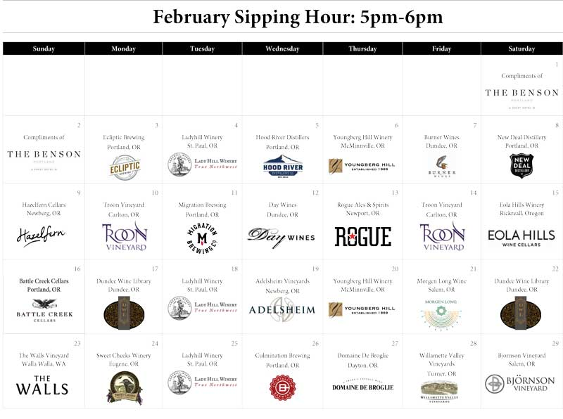 February Sipping Hour